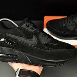 Кроссовки мужские Nike Air Max черные замш