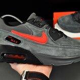 Кроссовки мужские Nike Air Max серые замш