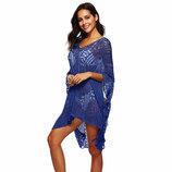 Пляжная туника, платье синее 2271