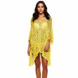 Пляжная туника, платье желтое 2271