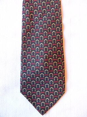 Мужской шелковый галстук Италия принт подкова