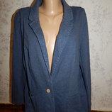 пиджак, жакет трикотажный, стильный, модный р20 большой размер
