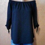 Блузка из фактурной ткани на плечи с завязками на рукавах размер 10-12 f&f