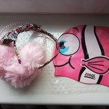 Набор для девочки ушки, шапка для плавания, ободок