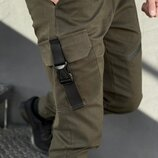 Коттоновые штаны мужские с карманами штаны карго весна