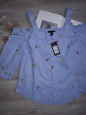 New look Красивая блуза с вышивкой р 14 Хлопок . сток