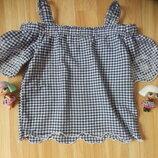 Фирменная блузка f&f малышке 3-4 года состояние отличное