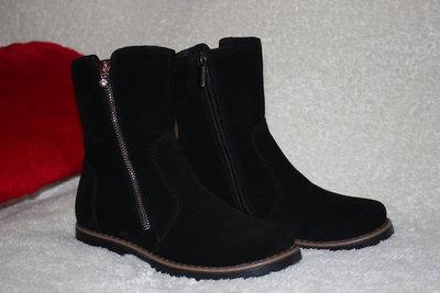 e23e24ab8 Новинка Демисезонные ботинки полусапоги для девочки рр. 32 33 34 35 36 37  Натуральная замша