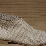 Легкие плетеные кожаные ботиночки цвета слоновой кости Fred De La Bretoniere Голландия/испания 40 р.