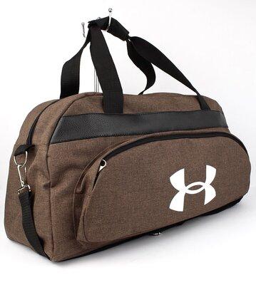 Сумка дорожная спортивная текстильная коричневая Under Armour 1326-3