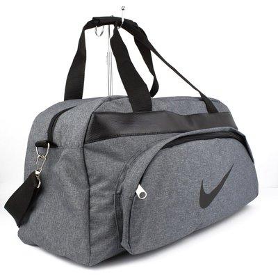 Сумка дорожная спортивная текстильная серая Nike 1325-1