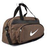 Сумка дорожная спортивная текстильная коричневая Nike 1325-3