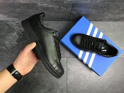 Мужские кроссовки Adidas Stan Smith black 7177