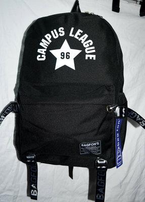 Рюкзак молодёжный городской.черный синий