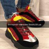 Коллекция 2019.Замшевые женские кроссовки.Яркие кроссовки женские Ando&Borteggi