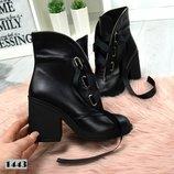 Демисезонные ботиночки,Демисезонные ботинки из кожи женские