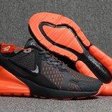 Оригинал. Бесплатная доставка. Кроссовки Nike Air Max Flair 270 серо-оранжевые KS 878