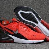 Как Оригинал. Бесплатная доставка. Кроссовки Nike Air Max Flair 270 красные KS 879