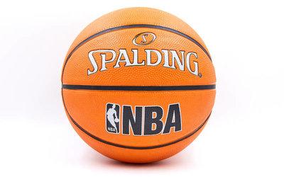 Мяч баскетбольный резиновый Spalding Jr. NBA 83420 размер 6, резина, бутил