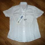 Новая белая рубашка, белая блузка на девочку 4-5 лет Back to school