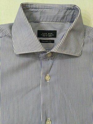 Полосатая рубашка zara размер м