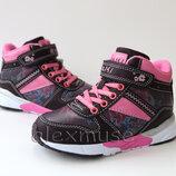 Демисезонные ботинки для девочки розовые, Tom. m