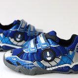 Яркие кроссовки синие, подсветка, Tom.m