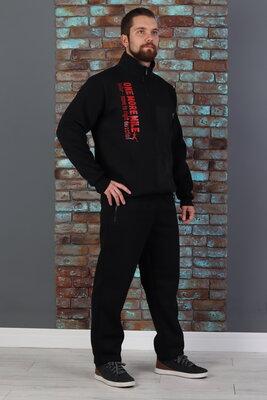 р-р 50-58, Теплый мужской спортивный костюм с начесом зимний