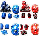 Комплект ролики защита-Happy Mondays. Blue/Red 29-33 34-37