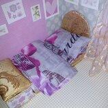 Кровать и постель для Лол. Ручная работа