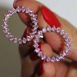 срібні сережки цвяшки з різнокольоровими камінчиками, женские серебряные серьги пусети гвозди
