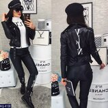 Женская кожаная куртка косуха Valentino