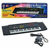 Электронный синтезатор пианино с микрофоном