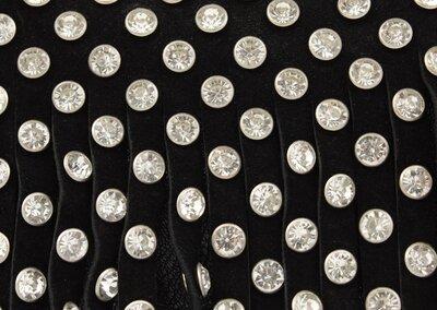 0659ff48550b Красивая замшевая сумочка c бахромой и камнями gilda tohetti 60293 черная.  Previous Next
