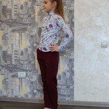 Штаны бордо для девочки Five Stars HD0173-128p