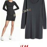Базовое трикотажное платье сукня плаття хлопок бавовна от h&m