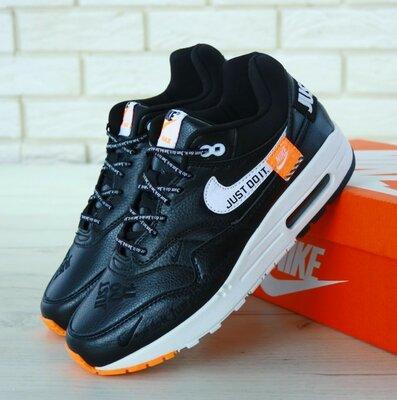 Мужские кроссовки Nike Air Max 1 Just Do It Black черные