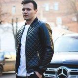 Куртка демисезонная мужская из экокожи куртка стеганая демисезонная мужская