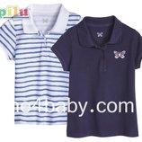 Детское поло тенниска Lupilu на девочку 1-2 года, рост 86/92 набор из 2 шт.