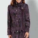 Брендовое фиолетовое демисезонное пальто с карманами joe browns вискоза