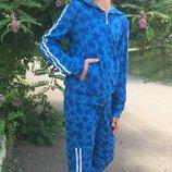 Спортивный костюм для девочки Бабочки 128-140 р-р