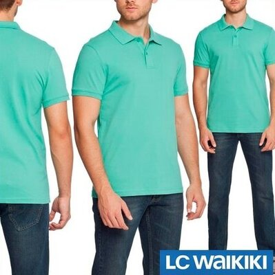 Зеленое мужское поло LC Waikiki / Лс Вайкики