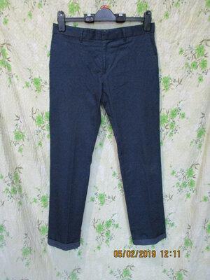 Стильные брюки скинни с отворотами/декор в крапинку