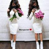 Вязаное платье,5 цветов
