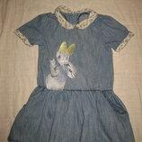 1,5-3 года, джинсовое платье Disney с Дейзи Дак