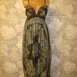 Платье сарафан длинный в пол макси р.10-12