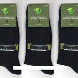 Носки мужские демисезонные бамбук Montebello,12 пар.39-41 р,чёрные,,Турция