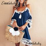Стильное женское летнее платье пляжный сарафан 4 цвета