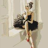 Картина по номерам. Люди Изысканность балерины 40 50см KHO4548