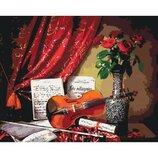 Картина по номерам Натюрморт Мелодия скрипки 2 40 50см KHO5513